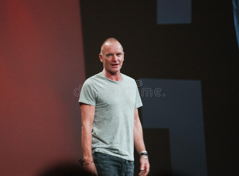 Download World-renowned Grammy-winning Musician Sting Editorial Stock Photo - Image: 21909623