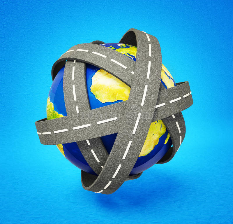 Download World road stock illustration. Image of background, urbanization - 22552832