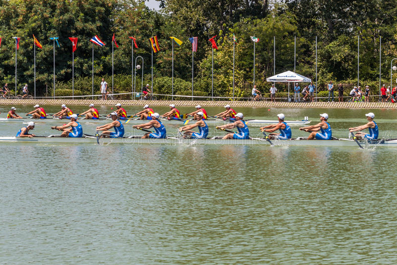World rowing championship under 23 years stock photography