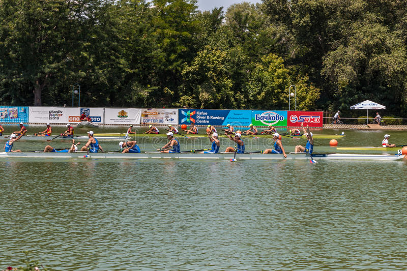 World rowing championship under 23 years royalty free stock photography