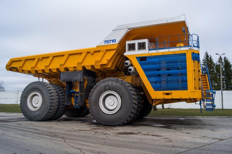 World' s最大的巨大的卡车BelAZ 库存照片