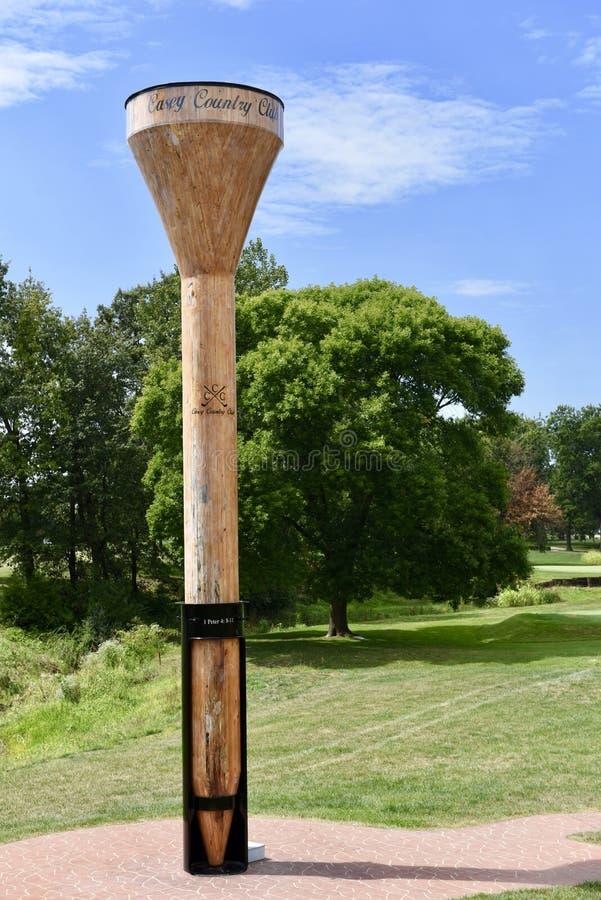 World& x27; s最大的高尔夫球发球区域 库存照片