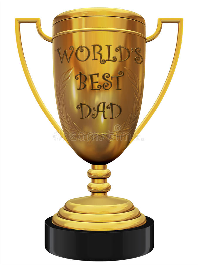 World's best dad trophy royalty free illustration
