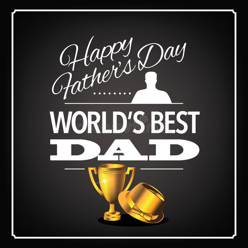 World's Best Dad Trophy Design. EPS 10 royalty free illustration