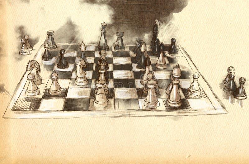 The World S Great Chess Games: Karpov - Kasparov Stock Illustration