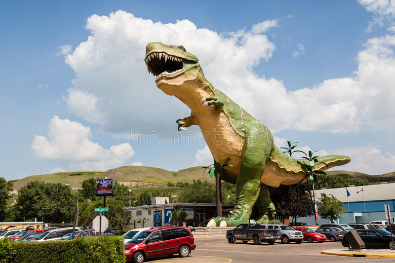 World's Largest Dinosaur in Drumheller, Canada royalty free stock image