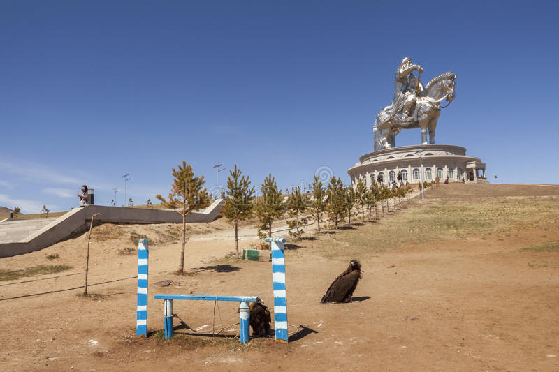 The world's largest statue of Chinghis Khan stock photos