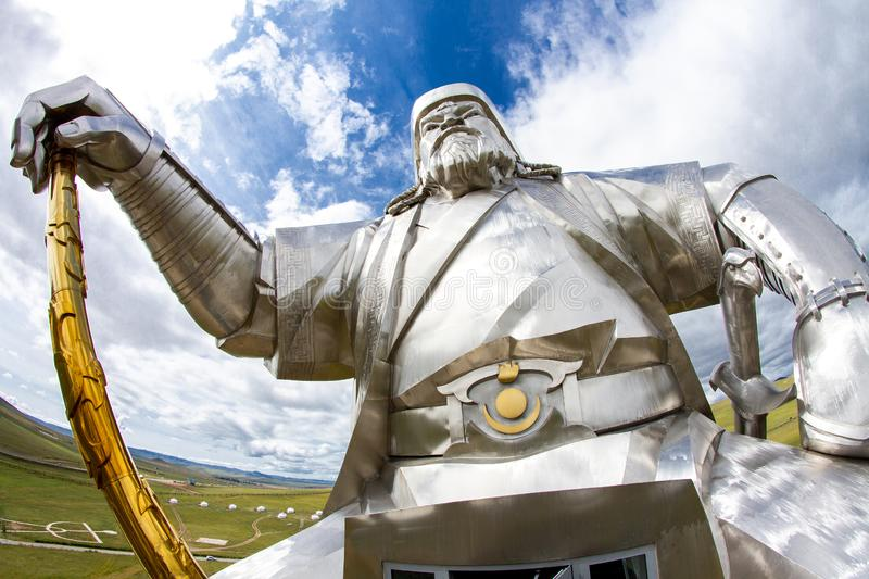 The world`s largest statue of Genghis Khan. Mongolia, shooting date 20 august 2019. stock images