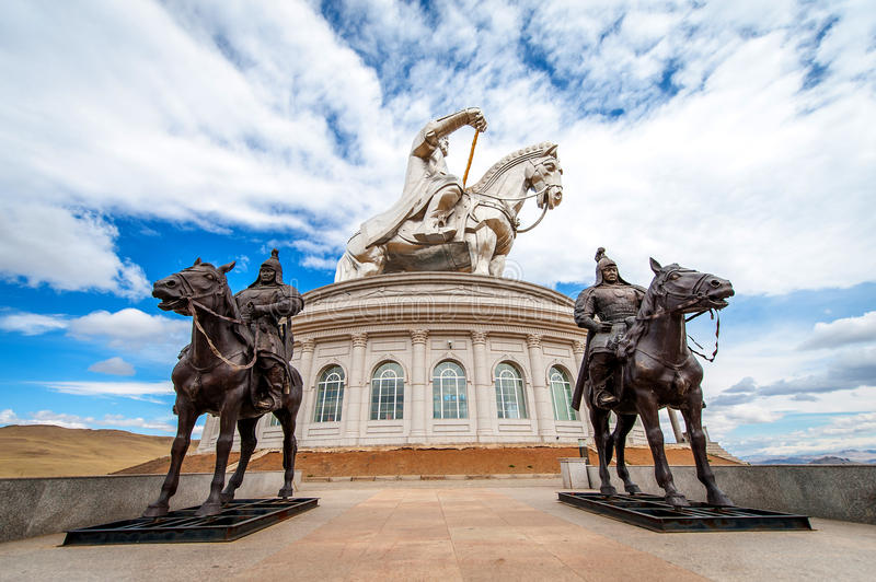 The world's largest statue of Genghis Khan stock image