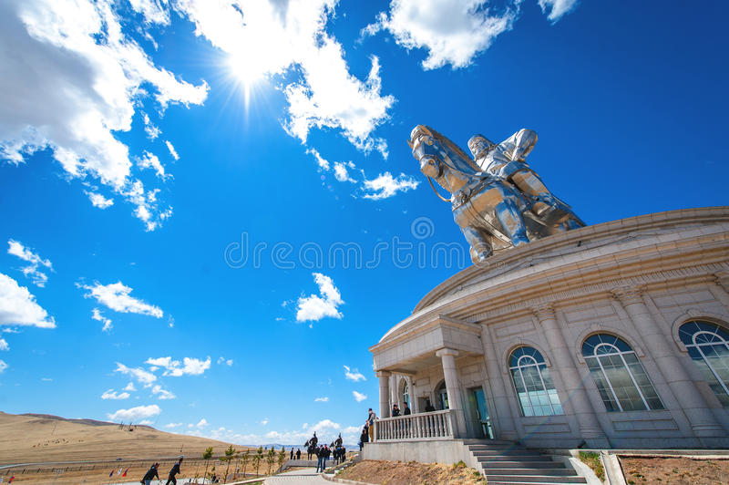 The world's largest statue of Genghis Khan stock images