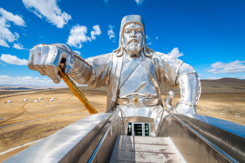 The world's largest statue of Genghis Khan stock photo
