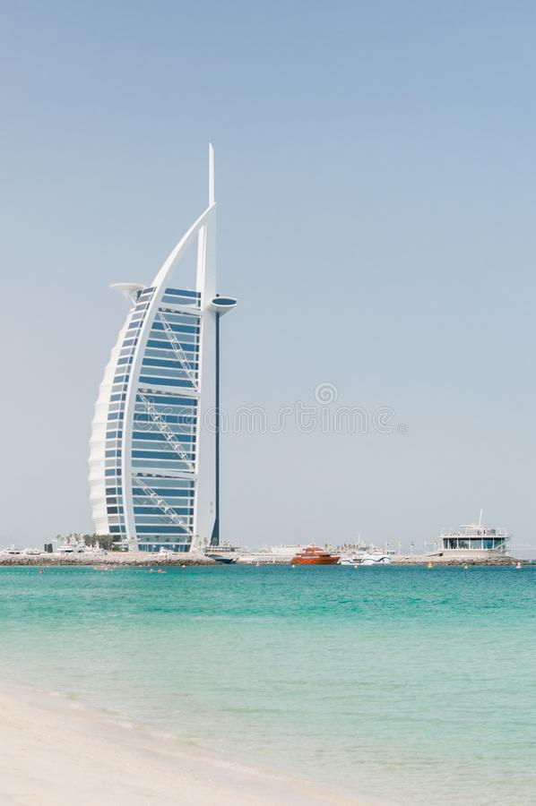 Burj al Arab luxury hotel in Dubai royalty free stock image