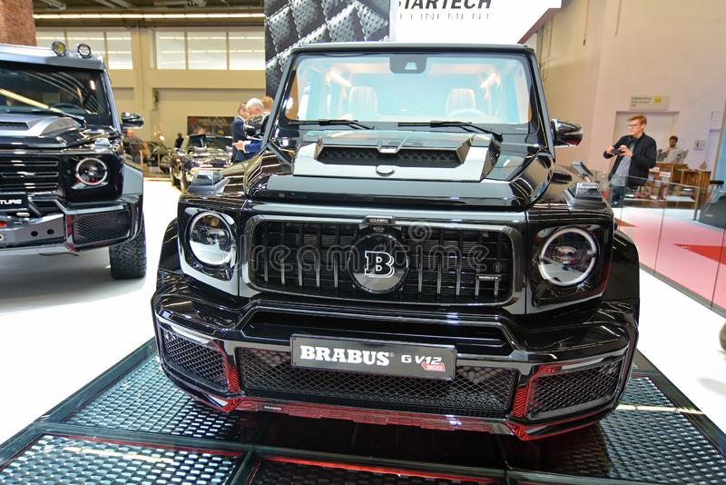 68. IAA Frankfurt 2019 -  BRABUS G V12 900 `ONE OF TEN`. The world`s most powerful twelve-cylinder off-roader once more comes from BRABUS! The BRABUS G V12 900 ` stock photos