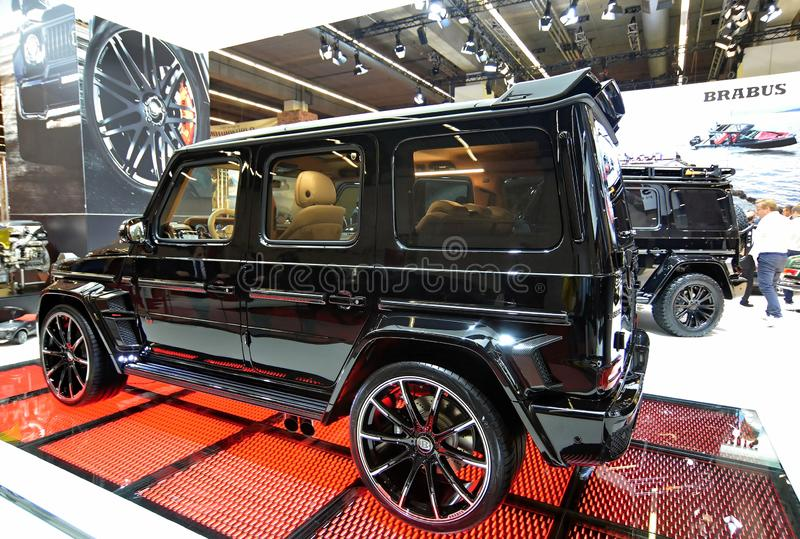 68. IAA Frankfurt 2019 -  BRABUS G V12 900 `ONE OF TEN`. The world`s most powerful twelve-cylinder off-roader once more comes from BRABUS! The BRABUS G V12 900 ` stock photo
