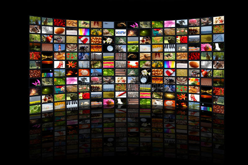 World in the screen royalty free stock photography
