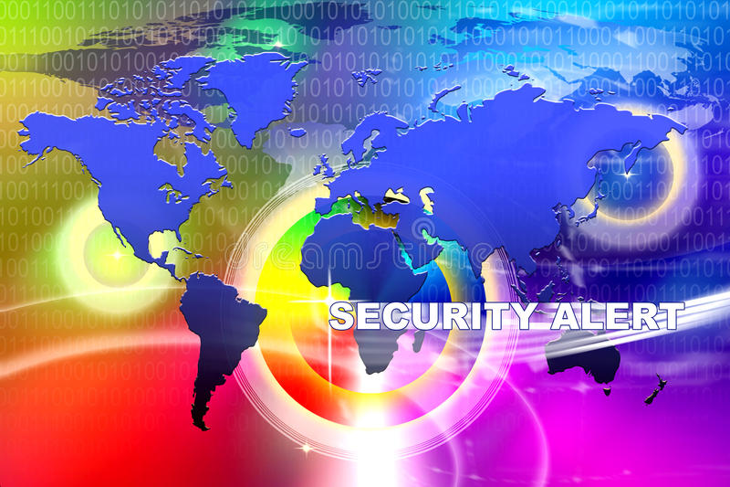 World Security Alert vector illustration