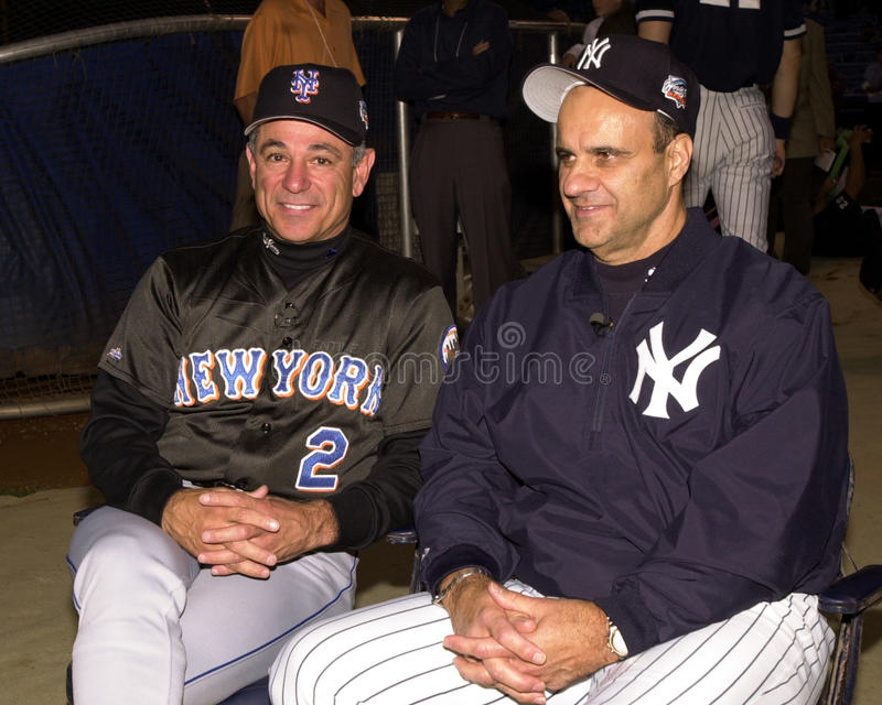 2000 World Series Managers Bobby Valentine and Joe Torre royalty free stock image