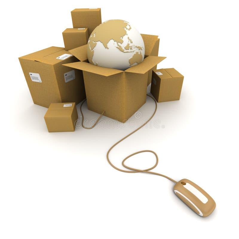 World shipment vector illustration
