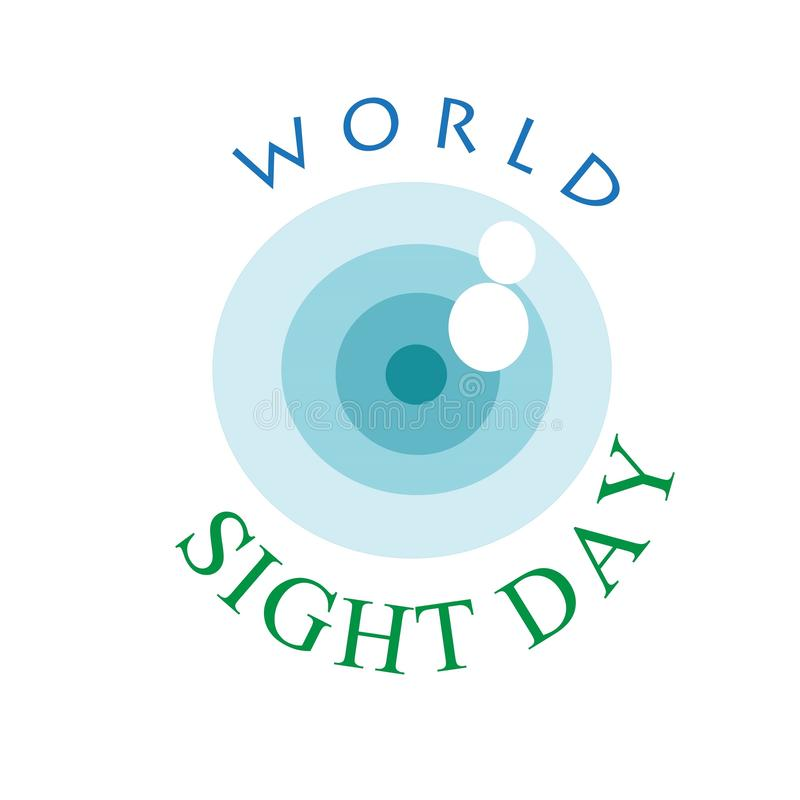 World Sight Day Sign. A sign and logo of world sight day for publications, advertisements,posters,brochures and flyers royalty free illustration
