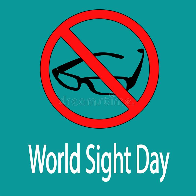 World Sight Day WSD event on 10 October. focus attention on blindness and vision impairment. vector illustration. World Sight Day WSD event on 10 October . focus vector illustration