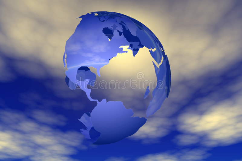 World and sky vector illustration