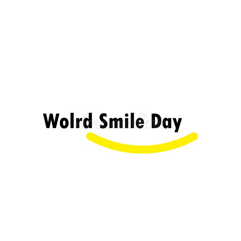 World Smile Day Celebration Vector Template Design Illustration. Happy, face, laughter, yellow, background, emoticon, card, joy, banner, object, cheerful royalty free illustration