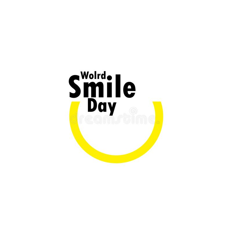 World Smile Day Celebration Vector Template Design Illustration. Happy, face, laughter, yellow, background, emoticon, card, joy, banner, object, cheerful vector illustration