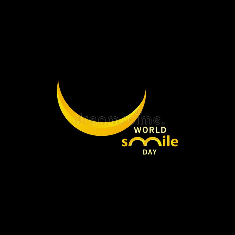 World smile day gradient design vector template illustration. Hand, round, greeting, white, circle, october, office, holiday, happiness, expression, tongue royalty free illustration
