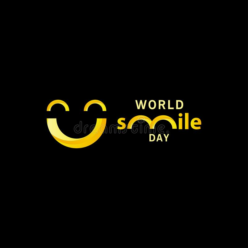 World smile day gradient design vector template illustration. Hand, round, greeting, white, circle, october, office, holiday, happiness, expression, tongue vector illustration