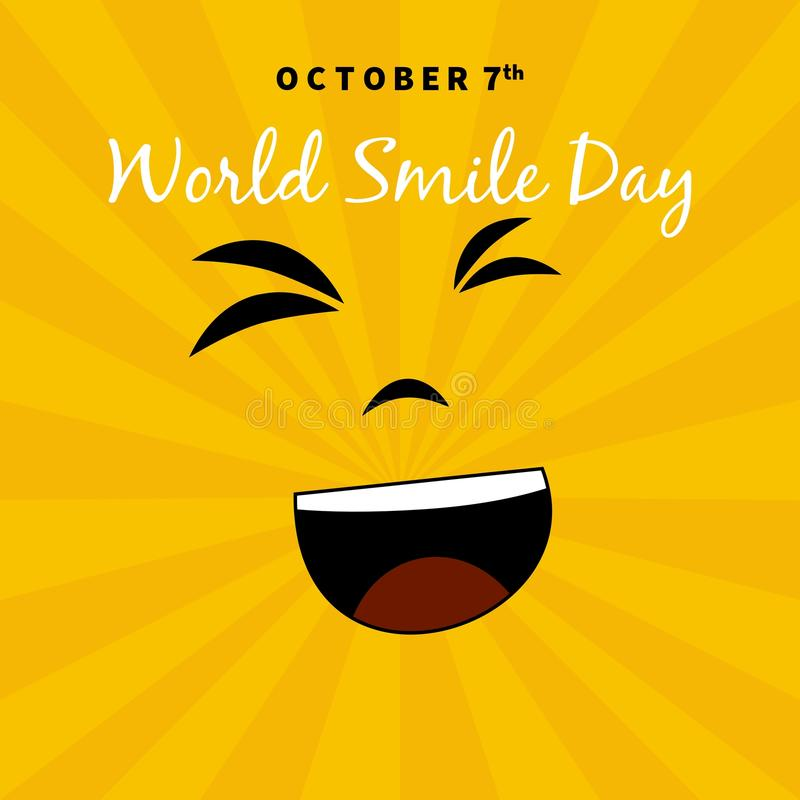 Download World Smile Day Illustration. Suitable For Greeting Cards And Posters Stock Vector - Image: 83719619