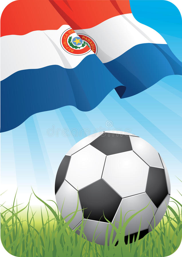 World soccer championship 2010 - Paraguay royalty free stock photo