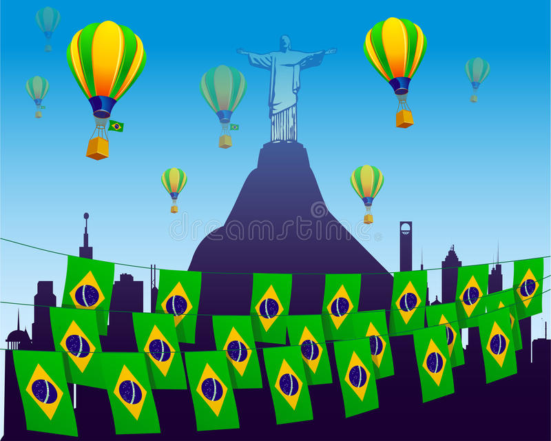 Download World Soccer Football 2014 Decorated With Flags Stock Illustration - Image: 25421380
