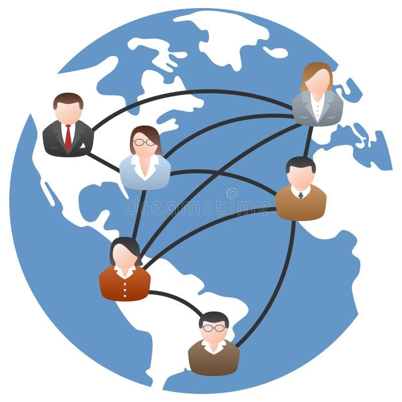 World Communication Network. World social media network community or global communication concept, isolated on white background. Eps file available royalty free illustration
