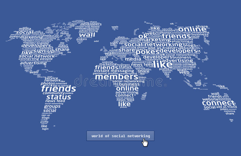 The world of social networking 2 royalty free illustration