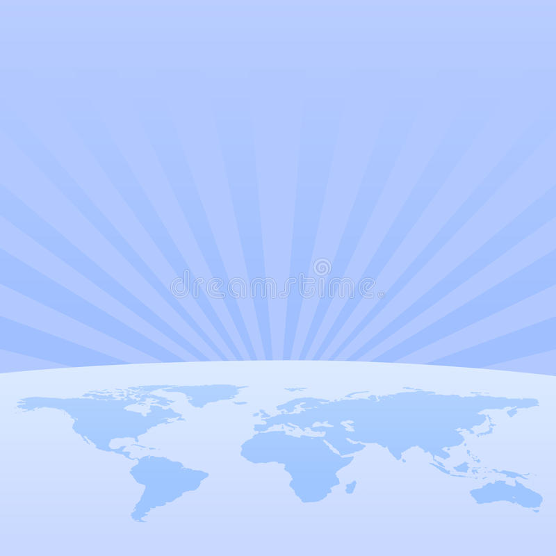 World from space web header royalty free illustration