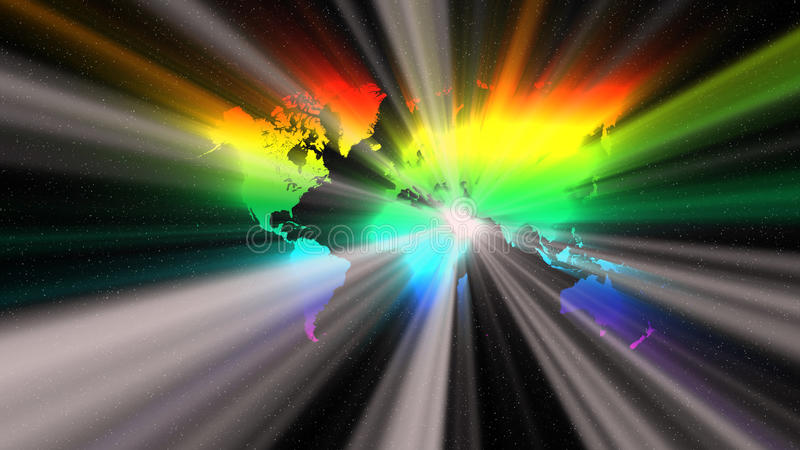 Download The world in spectrum stock illustration. Illustration of light - 33828791