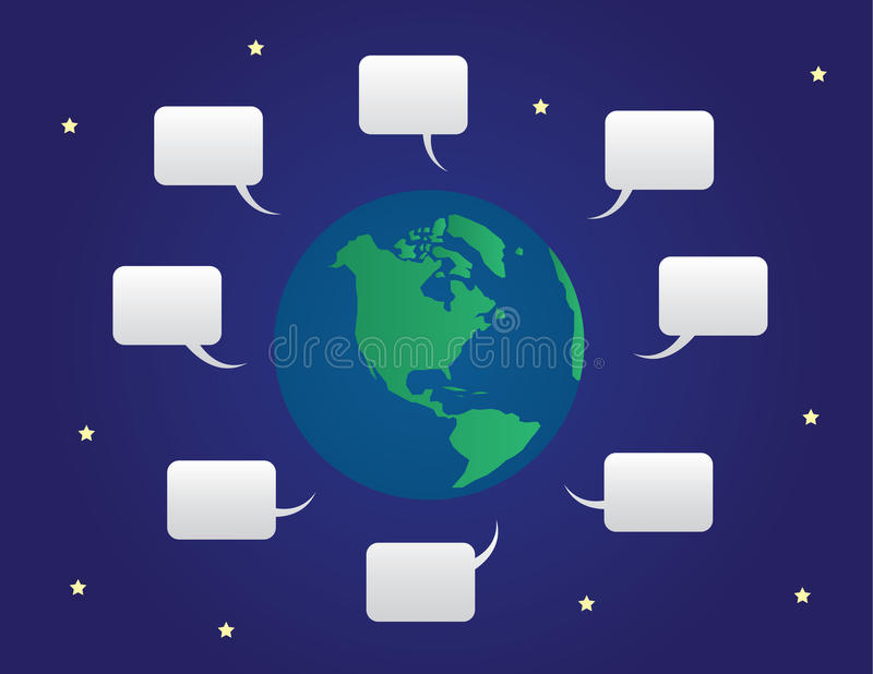 Download World Speech Bubbles stock vector. Image of networking - 25968540