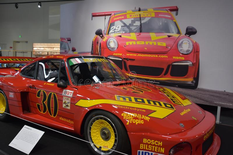 World of Speed USA in Wilsonville, Oregon. It is a museum dedicated to fast travel featuring historic racing cars, muscle cars stock photo