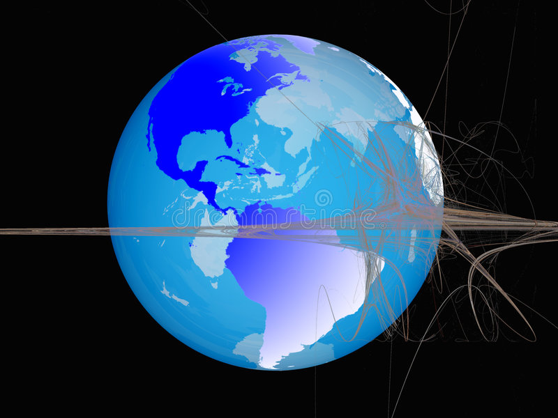 World sphere, virtual space. royalty free illustration