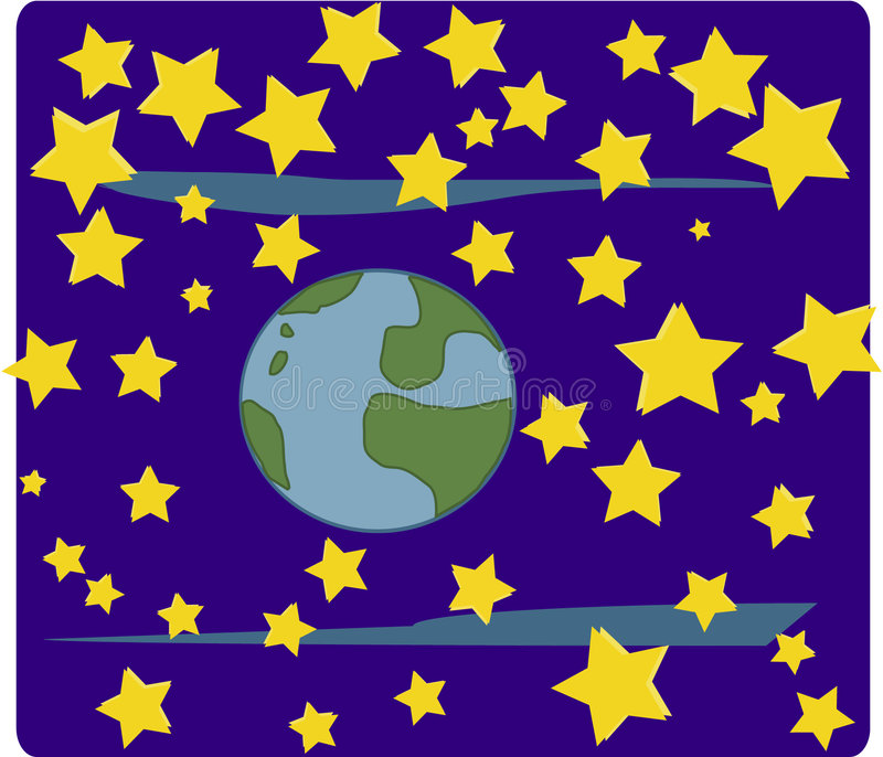 World and stars(space) stock photography