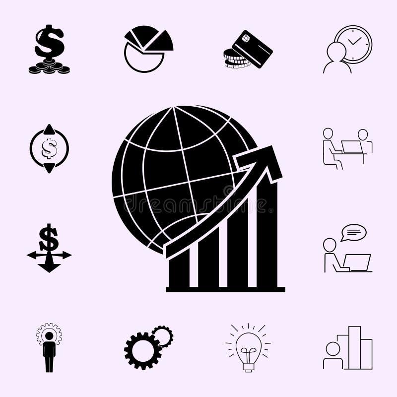 World Statistics line icon. Profit icons universal set for web and mobile stock illustration