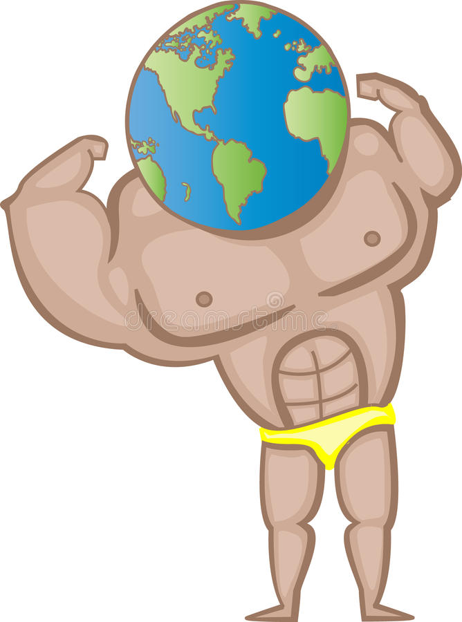 Download World Strength stock vector. Image of beefy, champion - 13222907