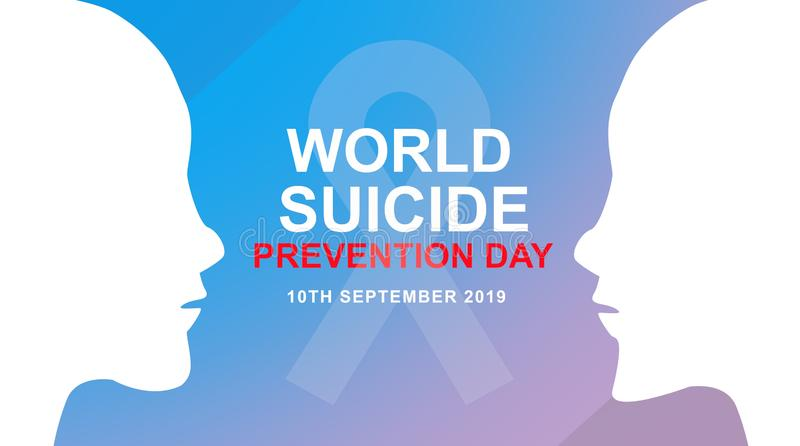 World Suicide Prevention Day awareness banner. Design illustration. Ready to use in your related design projects vector illustration