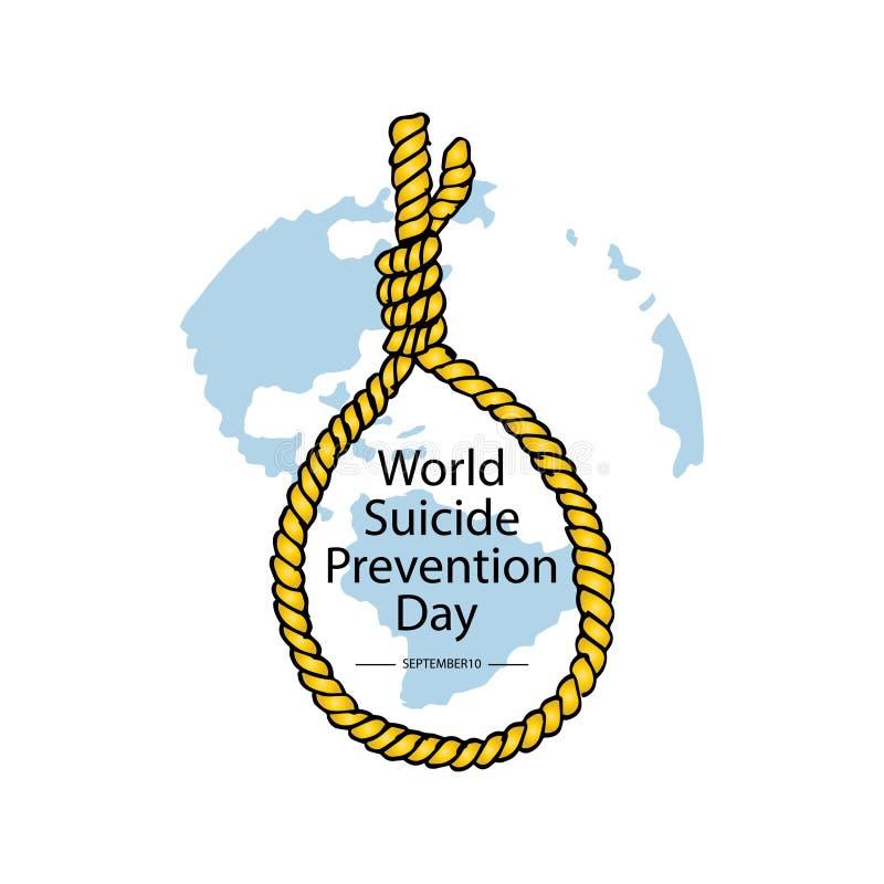 World Suicide Prevention Day. September 10. stock illustration