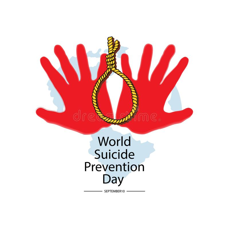 World Suicide Prevention Day. September 10. Poster, greeting card royalty free illustration