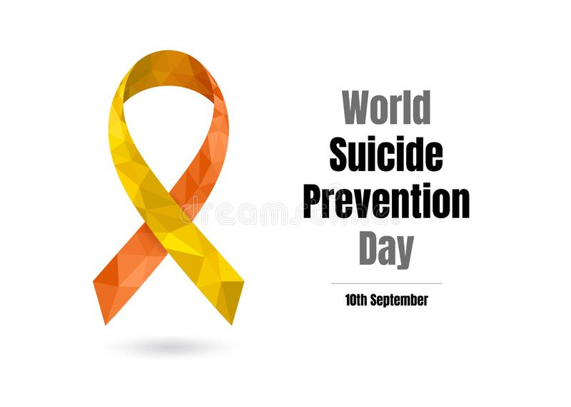 World Suicide Prevention Day for web and print stock illustration
