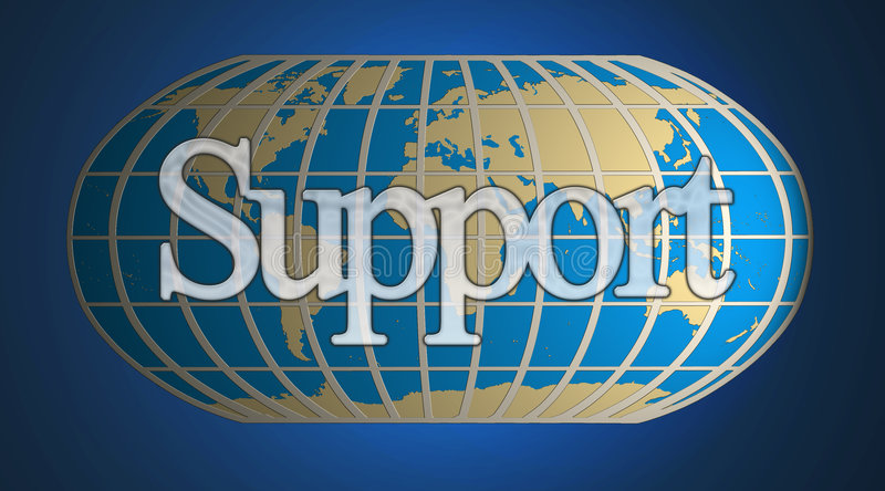 World support. A world business and World support concept royalty free illustration