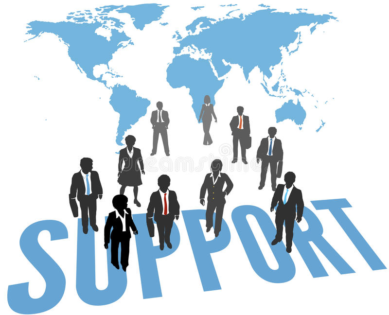 World Support Service Business People stock illustration