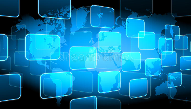World technology background. Abstract the world technology background stock illustration