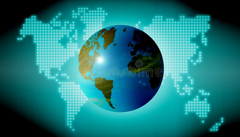 World technology background. Abstract the world technology background stock photo